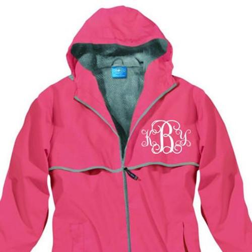 Monogrammed Rain Jacket in Pink