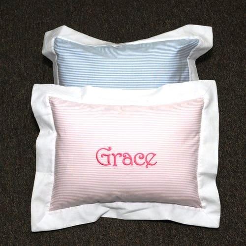 Personalized Striped Boudoir Pillow