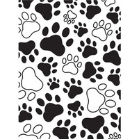 Darice A2 Embossing Folder - Paw Print Background