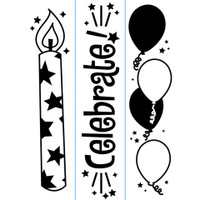 "Darice 1 1/2"" x 5 3/4"" Embossing Folder Set - Birthday Borders"