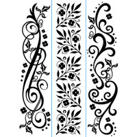 "Darice 1 1/2"" x 5 3/4"" Embossing Folder Set - Flourish Borders"