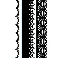 "Darice 1 1/2"" x 5 3/4"" Embossing Folder Set - Lace Borders"