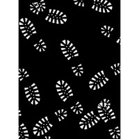 Darice A2 Embossing Folder - Boot Tracks