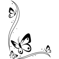 Darice A2 Embossing Folder - Butterflies Border