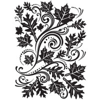 Darice A2 Embossing Folder - Fall Leaves