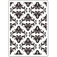 Darice A2 Embossing Folder - Fleur De Lis Background