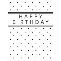 Darice A2 Embossing Folder - Happy Birthday