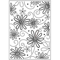 Darice A2 Embossing Folder - Large Petal