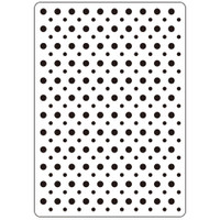 Darice A2 Embossing Folder - Polka Dots Background