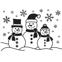 Darice A2 Embossing Folder - Three Snowmen