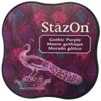 StazOn Permanent Mini Ink Pad - Gothic Purple