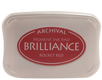 Brilliance Pigment Ink Pad - Rocket Red