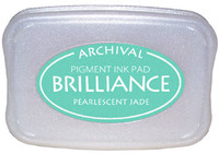 Brilliance Pigment Ink Pad - Pearlescent Jade
