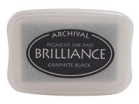 Brilliance Pigment Ink Pad - Graphite Black