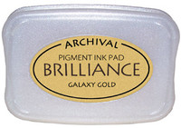 Brilliance Pigment Ink Pad - Pearlescent Galaxy Gold