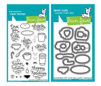 Lawn Fawn Stamps & Dies Bundle - Love You a Latte