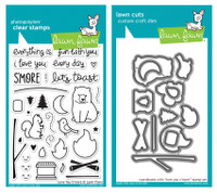 Lawn Fawn Stamps & Dies Bundle - Love You S'more