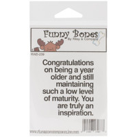 Funny Bones Cling Stamps - A Year Older