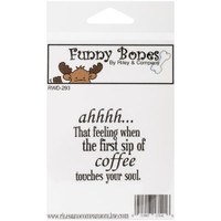 Funny Bones Cling Stamps - Coffee Touches Your Soul
