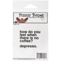 Funny Bones Cling Stamps - Depresso