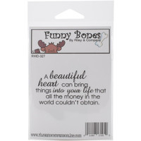 Funny Bones Cling Stamps - A Beautiful Heart