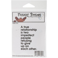 Funny Bones Cling Stamps - A True Relationship