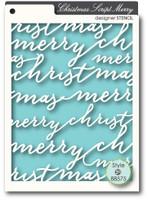Memory Box Stencils - Script Merry