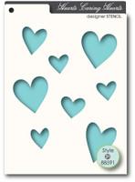 Memory Box Stencils - Caring Hearts
