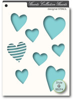 Memory Box Stencils - Collective Hearts