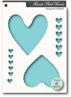 Memory Box Stencils - Plush Hearts