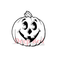 "Deep Red Cling Stamps -  Jack-O'-Lantern 2"" x 2"""