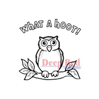 """Deep Red Cling Stamps -  Hoot Owl 2"""" x 2"""""""