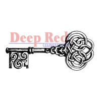"Deep Red Cling Stamps -  Celtic Key 1.25"" x 3"""