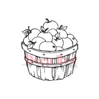 "Deep Red Cling Stamps -  Apple Harvest 2"" x 2.1"""