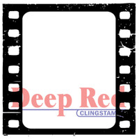 "Deep Red Cling Stamps -  Filmstrip 2.1"" x 2.1"""