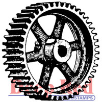 """Deep Red Cling Stamps -  Heavy Gear 2"""" x 2"""""""
