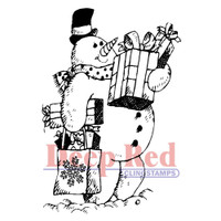 "Deep Red Cling Stamps -  Frosty Shopper 2""X3"""
