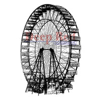 "Deep Red Cling Stamps -  Ferris Wheel 2""X3"""
