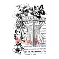 "Deep Red Cling Stamps -  Corset Collage 2""X3"""