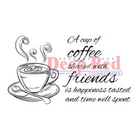 "Deep Red Cling Stamps -  Coffee W/Friends 3"" x 2"""