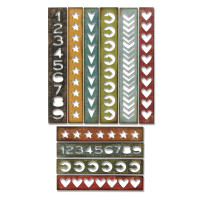 Sizzix Thinlits Die Set 10PK - Shape Strips by Tim Holtz