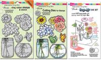 Stampendous Cling Stamps and Dies Bundle - Build A Bouquet Set & Pop-Up Die Set