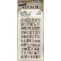 Tim Holtz Layered Stencil - Typo