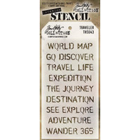 Tim Holtz Layered Stencil - Travelers