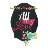 Sizzix Thinlits Die Set 8PK - Phrase, All My Love