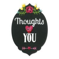 Sizzix Thinlits Die Set 5PK - Phrase, Thoughts of You