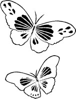 Memory Box Stamps - Twirling Butterflies