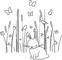 Memory Box Stamps - Max Bunny in the Meadow