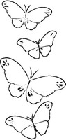 Memory Box Stamps - Butterfly Trail