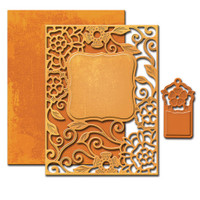 Spellbinders Nestabilities A2 Card Creator Dies - Tudor Rose